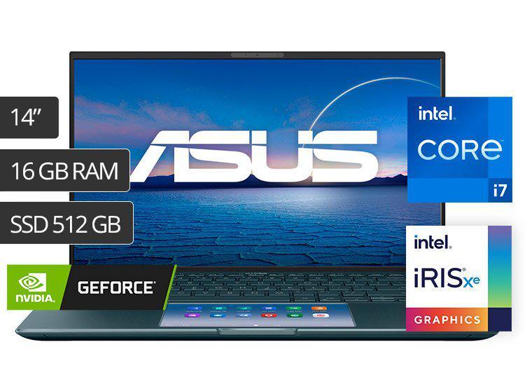 "ASUS LAPTOP ZENBOOK 14 UX435EG 14"" CORE I7 512GB 16GB 2GB"