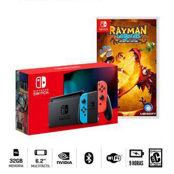 Consola Nintendo Switch Neon 2019 + Rayman Legends