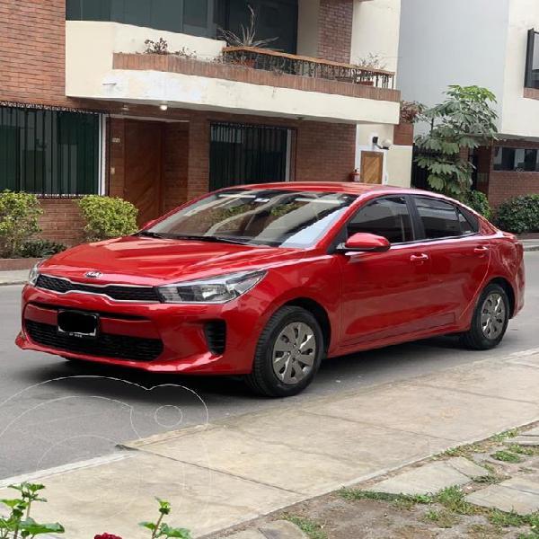 KIA Rio 1.4L LX Full usado (2020) color Rojo precio