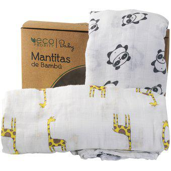 Mantitas de Bambú para Bebés (2 mantitas)
