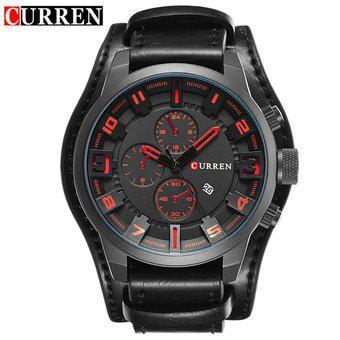 Reloj Lujo CURREN 8225 Correa Cuero Cronógrafos Original