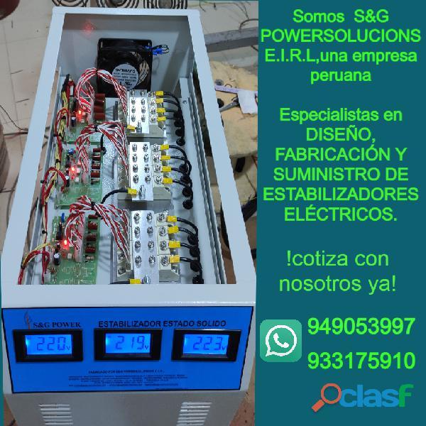 abricación, Venta, Servicio y equipamiento eléctrico de máxima calidad.