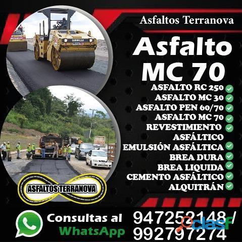 Asfalto mc 30 mc 70 rc 250