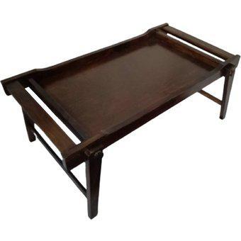 Bandeja mesa desayuno plegables mesa de cama en madera