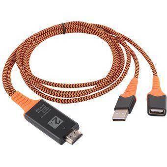 Tamaño portátil de nylon trenzado de cables USB hembra a