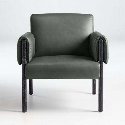 Crate & barrel silla de cuero diderot   falabella.com