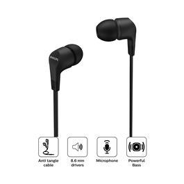 Audifono philips in ear con cable tae1105 negro