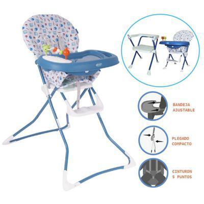 Ebaby silla de comer badala 2 en 1 plegable azul |