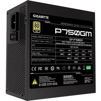 Fuente de poder gigabyte 750w 80 plus gold modular