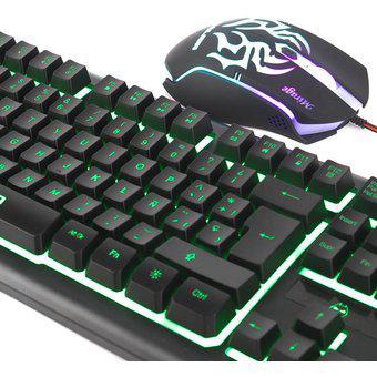 Kit gamer teclado + mouse halion mirage ha-810c