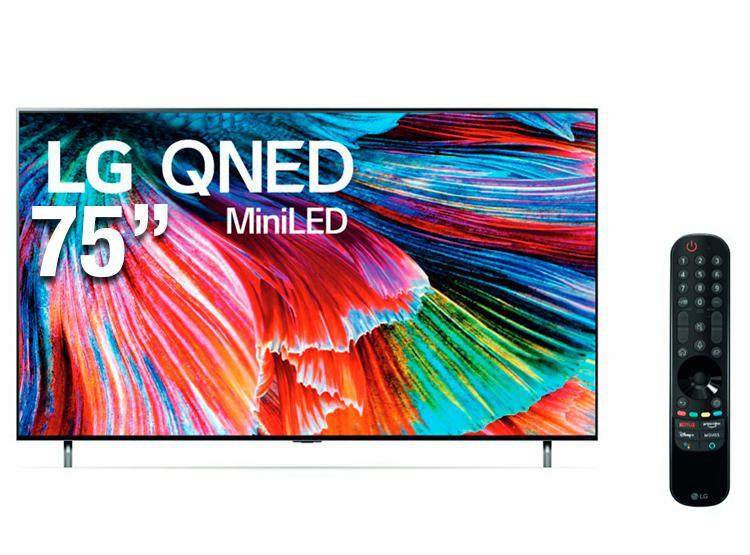 Televisor lg mini led ultra hd 8k 75'' smart tv con thinq ai