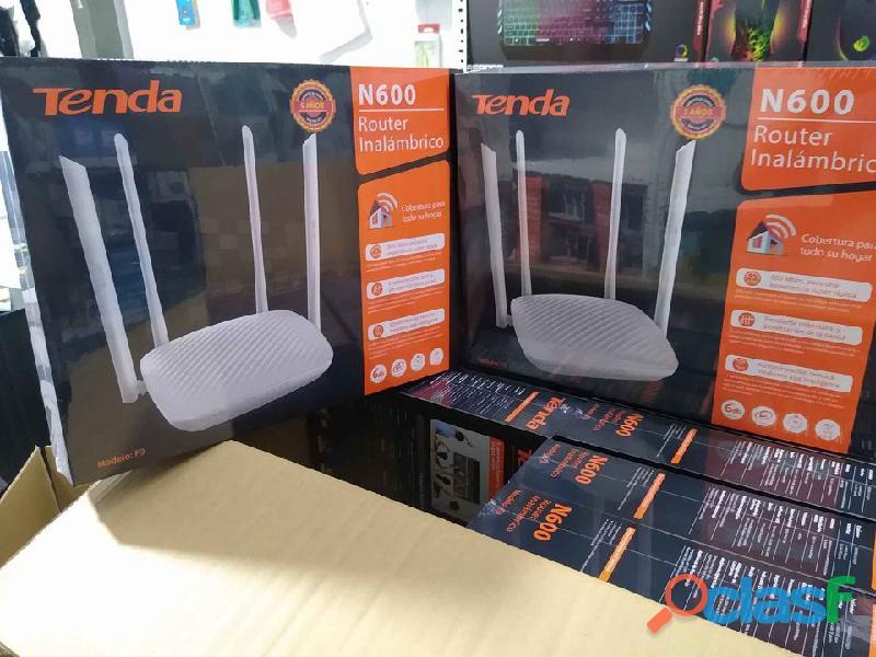 Repetidor wifi 600mbs tenda f9 router inteligente 4 antenas
